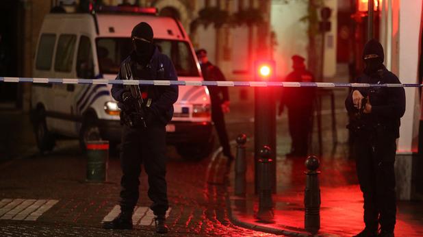 полицейска акция в брюксел