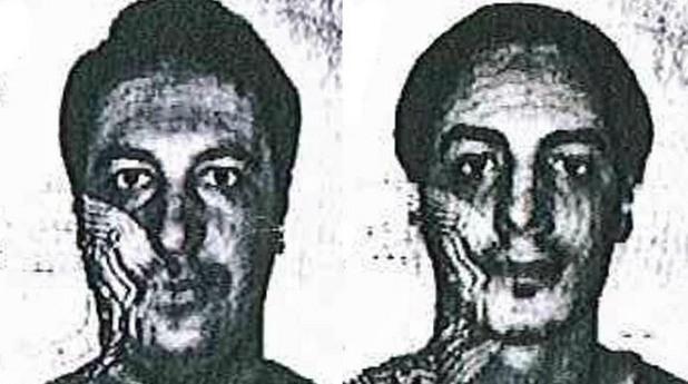 лицата на двама заподозрени за съучастничество в атентатите в париж