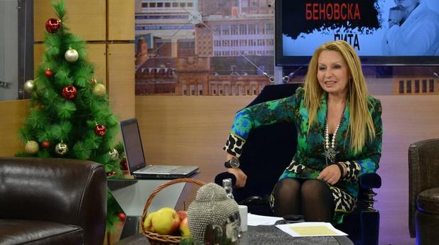 Илиана Беновска в студиото си в Канал 3