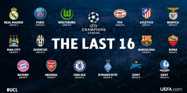 шампионска лига 2015, осминафинали