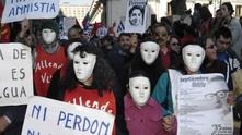 Протест на близки на загиналите от режима на генерал Аугусто Пиночет, Чили
