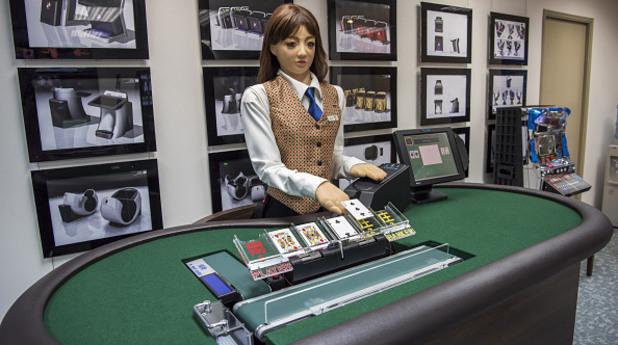 Макао - първият дилър робот