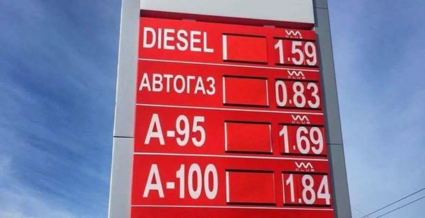 ценоразписът на бензиностанцията на vm petroleum във варна