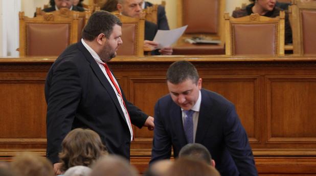 Делян Пеевски и Владислав ГОранов