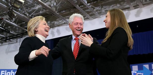бил, хилъри и челси клинтън