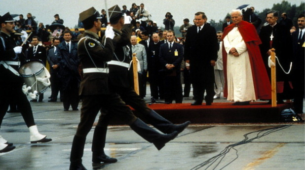 Лех Валенса и папа Йоан Павел II