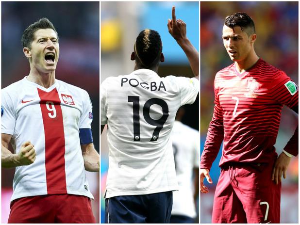 евро 2016, колаж, европейско първенство, кристиано роналдо, пол погба, роберт левандовски