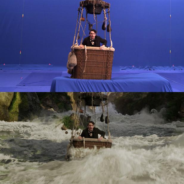 Преди и след специалните ефекти