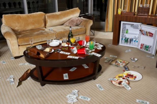 хаос след парти