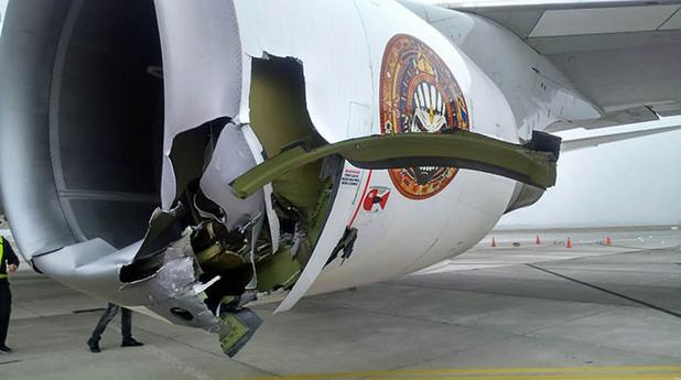 Boeing 747 на Iron Maiden пострада на летище в Чили