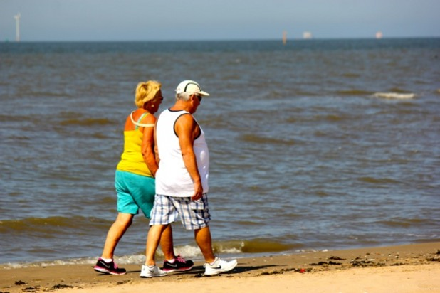 разходка, плаж