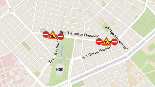 Ето къде ще са новите тапи в София заради метрото