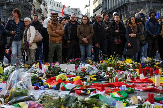 възпоменание за жертвите на атентатите в брюксел