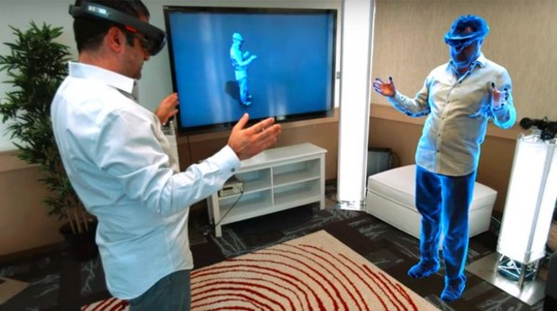 Microsoft представи иновация за общуване чрез холограми