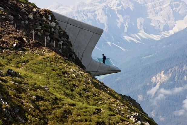 """планинарски музей """"Коронес"""" на Райнхолд Меснер в Италианските Доломити"""