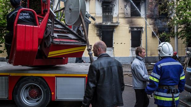 Пожар в Русия