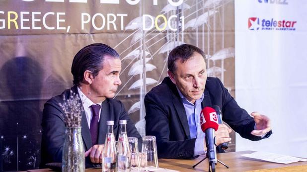 Стефан Делайе, президент на MediaMixx, Асен Григоров, директор на Digital Media Conference на MediaMixx.