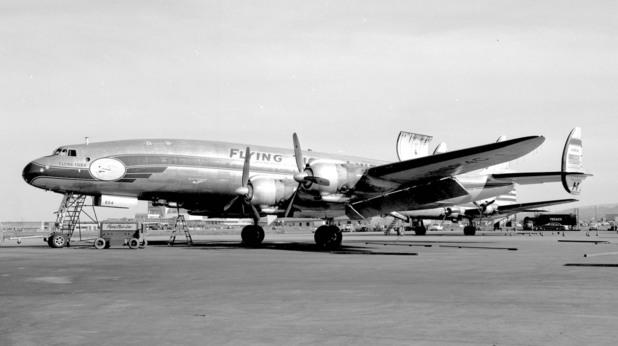 Super Constellation на американската авиокомпания Flying Tiger Line