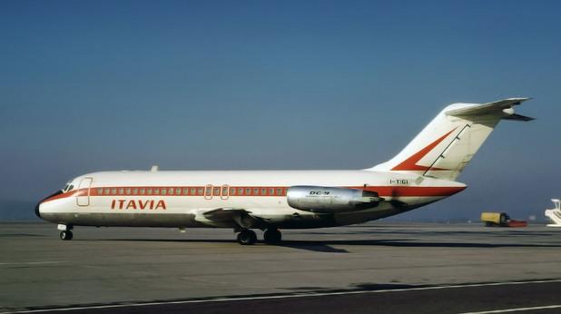 DC-9 на италианската авиокомпания Aerolinee Itavia
