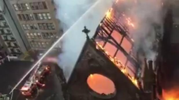 пожар в сръбската църква в ню йорк