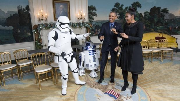 Барак и Мишел Обама отпразнуват деня на Star Wars