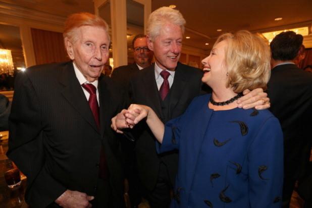съмнър редстоун с бил и хилари клинтън