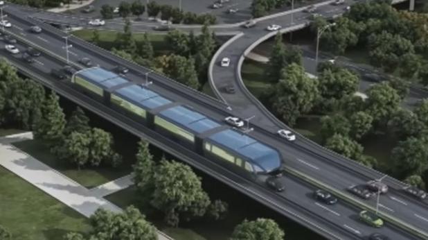 """Китай разработи """"разкрачен автобус"""" на бъдещето"""