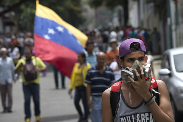 протест във венецуела