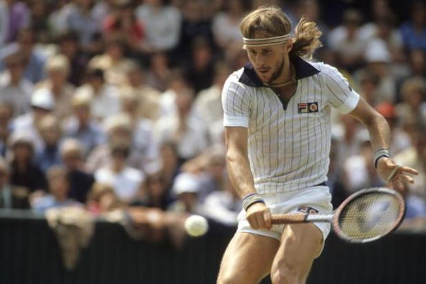 Бьорн Борг по време на финала на Уимбълдън '80