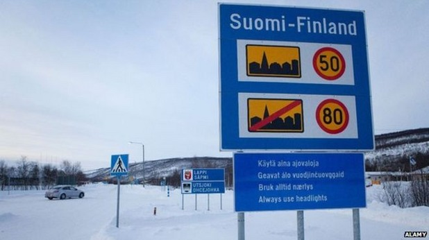 Пътен знак във Финландия
