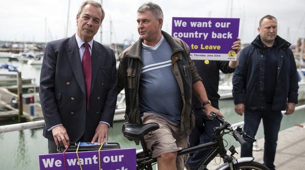 Найджъл Фарадж агитира за Brexit