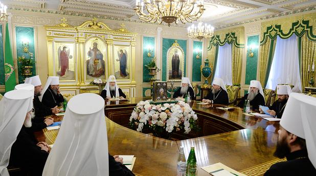 Заседание на Светия Синод на руската православна църква