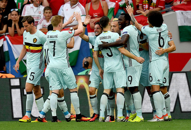 радост на белгийците срещу унгария