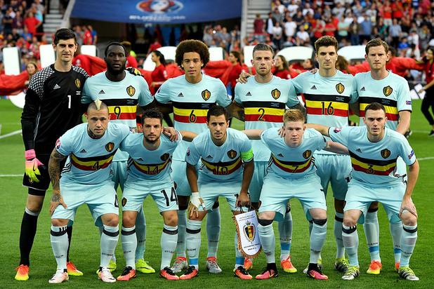 отборът на белгия преди мача с унгария