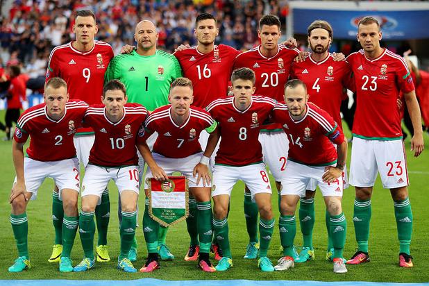 отборът на унгария преди мача с белгия