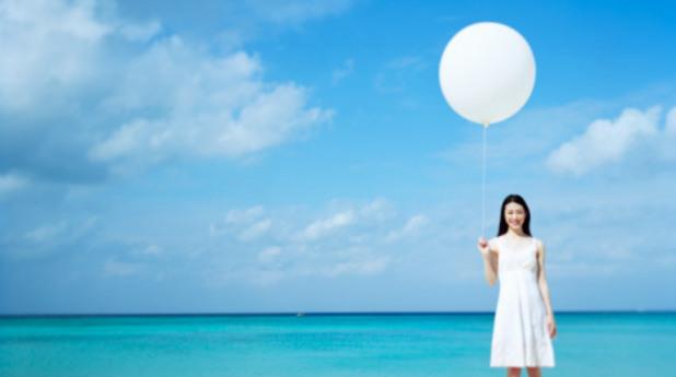 Жена, балон
