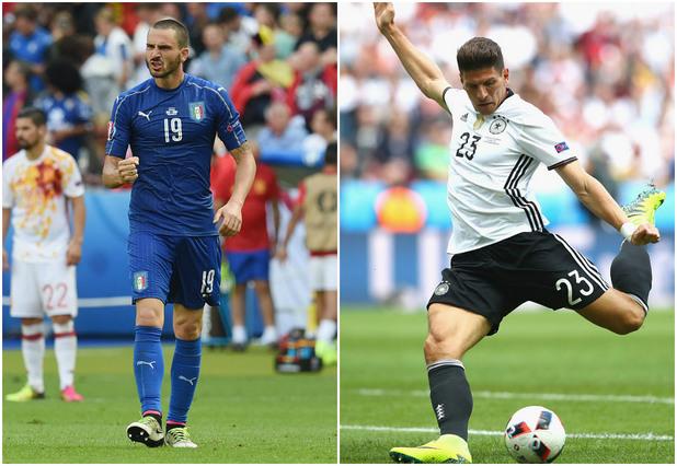 германия, италия, евро 2016, колаж