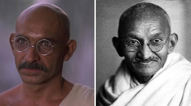 Бен Кингсли и Махатма Ганди