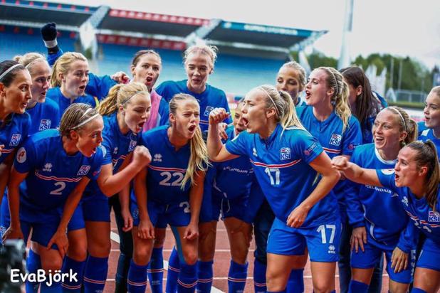 женски футбол, исландия