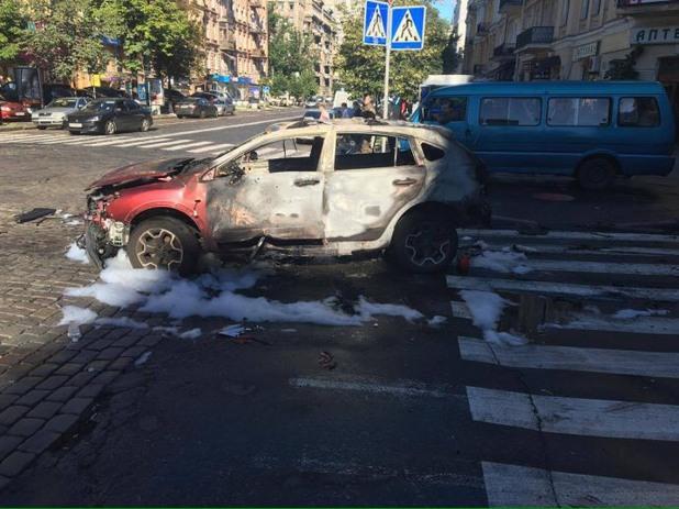 Бомбен атентат срещу известен журналист в Киев