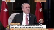 Ердоган даде интервю на живо за Ал Джазира