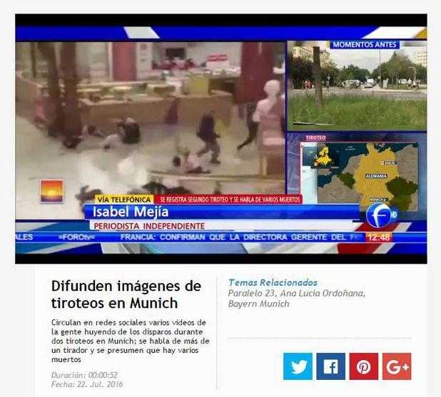 фалшиви кадри от нападението в мюнхен