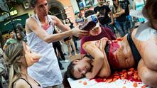 вегански протест в софия