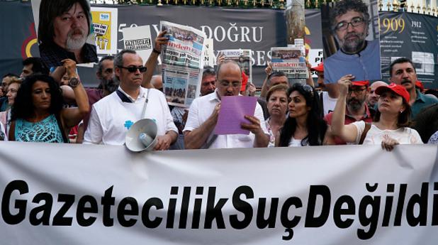 Турски журналисти на протест