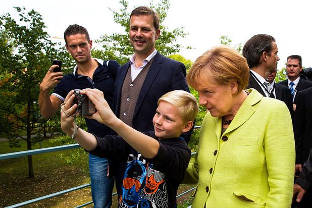 селфи с ангела меркел