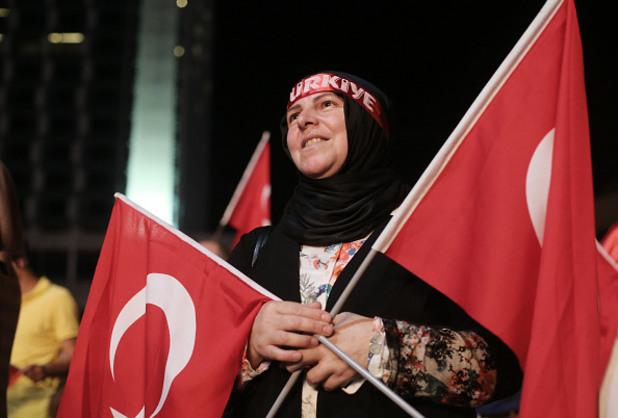 Митинг на демокрацията в подкрепа на Ердоган в Турция
