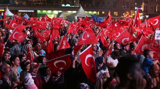 Митинг подкрепящ правителството на Турция
