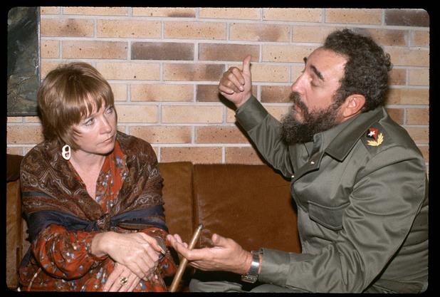 Фидел Кастро с Шърли Маклейн