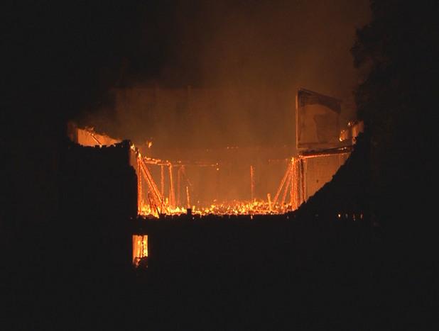 пожарът в тютюневите складове