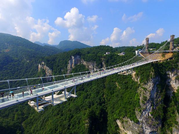 стъклен мост, китай